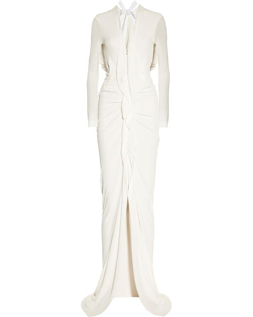 Roland Mouret | Natural Compeyson Open-back Stretch-crepe Gown | Lyst