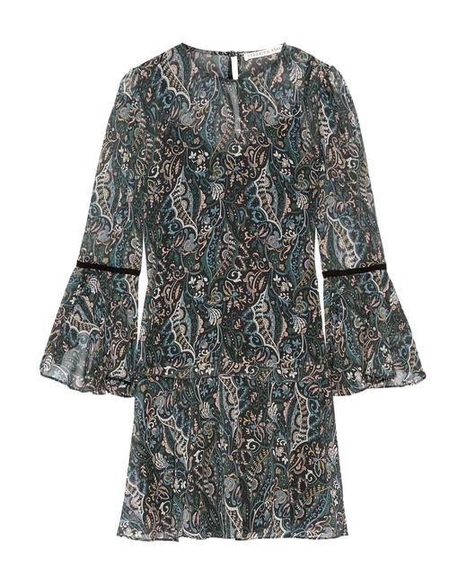Veronica Beard   Multicolor Denver Printed Silk-chiffon Mini Dress   Lyst
