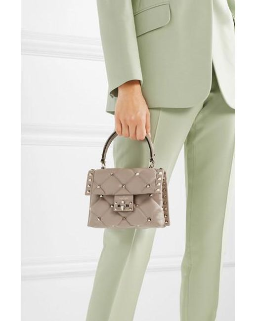 b280a73d35 ... Valentino - Multicolor Garavani Candystud Mini Quilted Leather Shoulder  Bag - Lyst ...