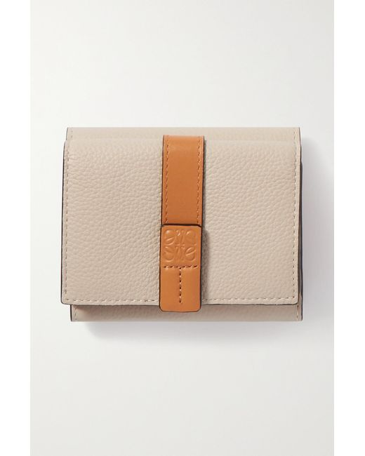 Loewe Multicolor Two-tone Textured-leather Wallet