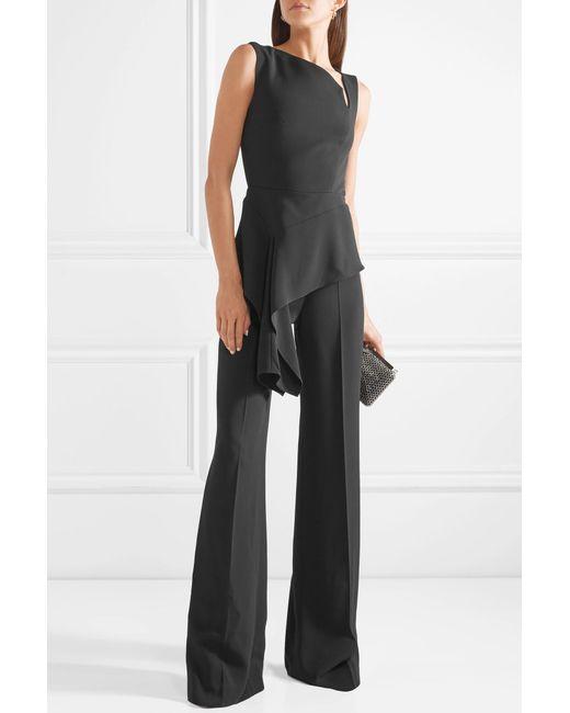 Keene Draped Crepe Jumpsuit - Black Roland Mouret Free Shipping Pick A Best Excellent For Sale Sale Online 100% Original Cheap Online Outlet Collections Aa6jG