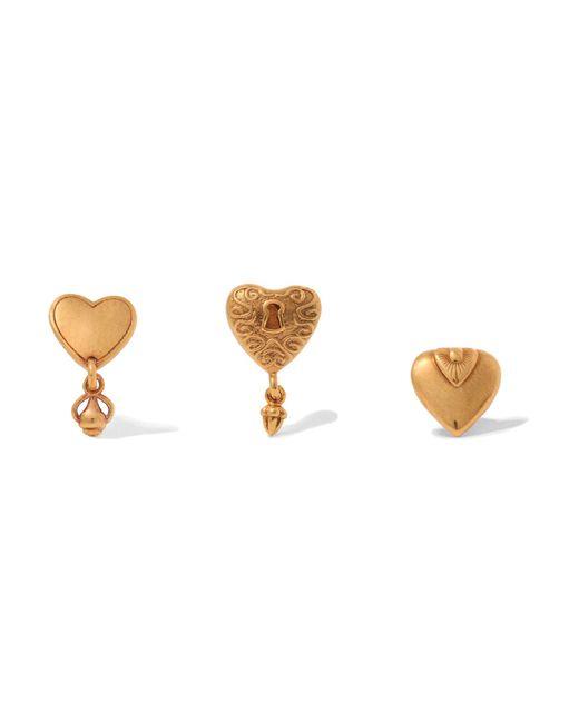 Chloé | Metallic Set Of Three Gold-tone Earrings | Lyst