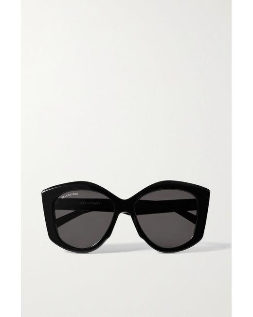 Balenciaga Black Oversized-sonnenbrille Mit Cat-eye-rahmen Aus Azetat