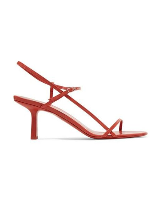 0a2042dcc130d The Row Bare Leather Sandals in Red - Save 30% - Lyst