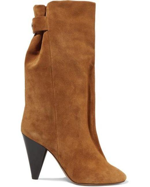 Isabel Marant Brown Lakfee Suede Boots