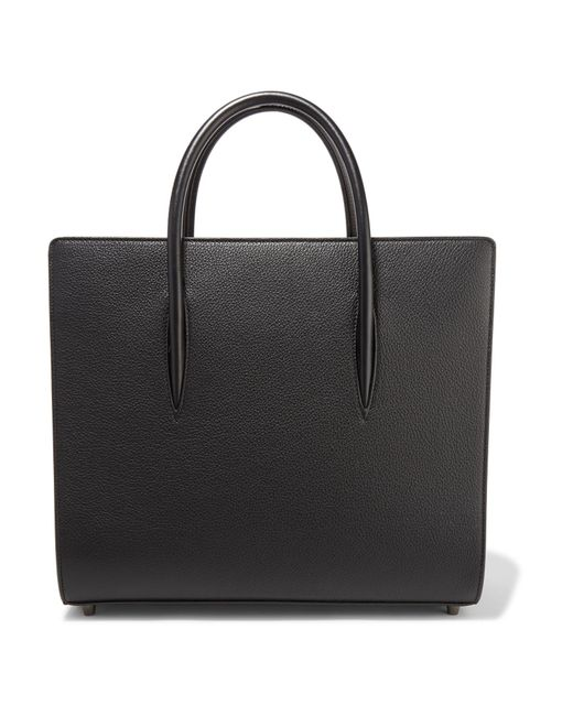 Christian Louboutin - Black Paloma Large Textured And Patent-leather Tote - Lyst