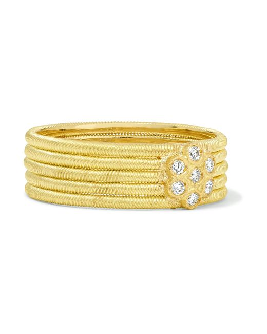 Buccellati - Metallic Hawaii 18-karat Gold Diamond Ring Gold 52 - Lyst