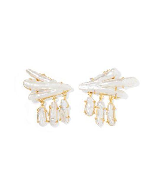 Peet Dullaert White Vanura Vergoldete Ohrringe Mit Perlen
