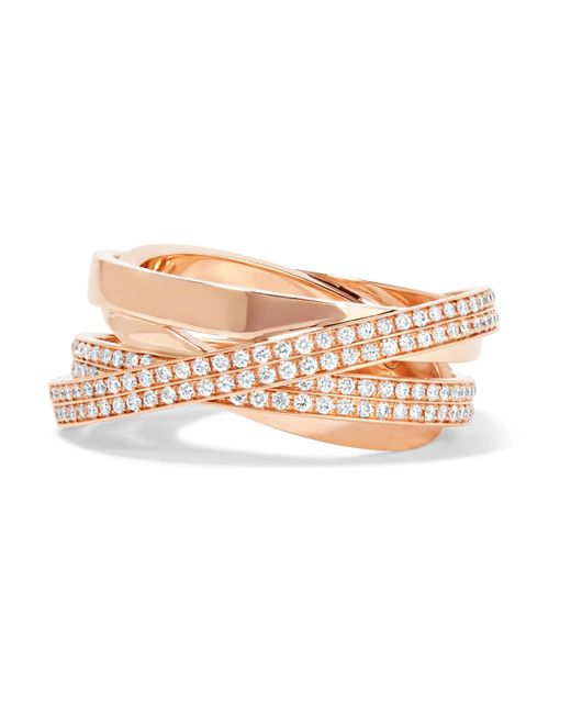 Repossi | Metallic Technical Berbère 18-karat Rose Gold Diamond Ring | Lyst