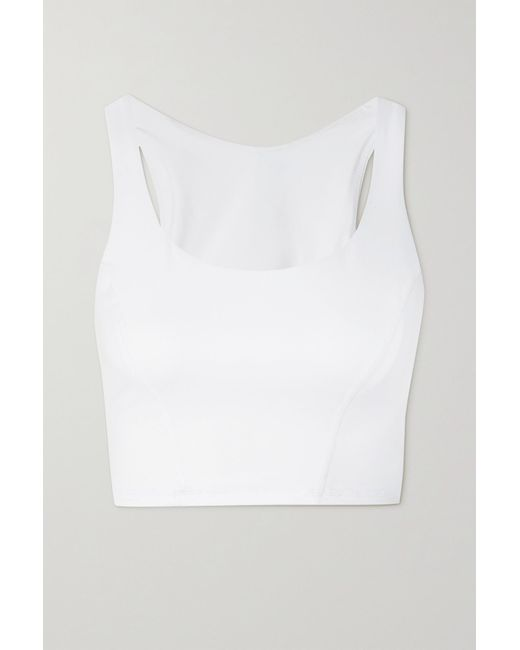 The Upside White Monica Cropped Stretch Top