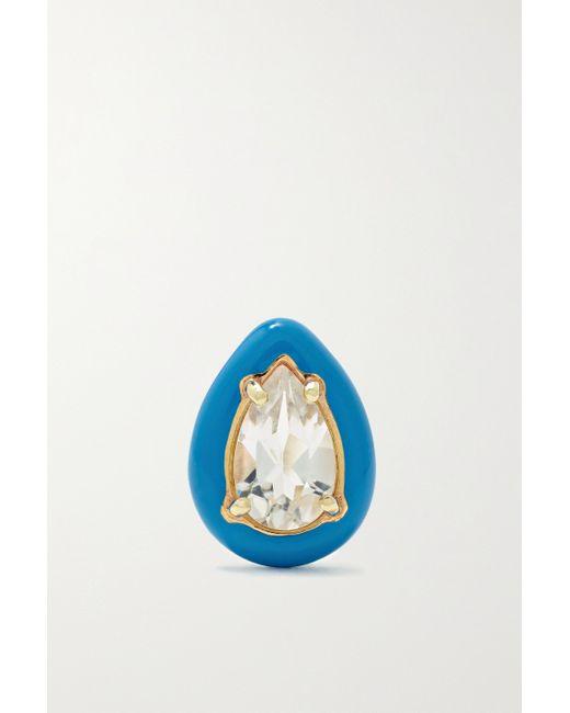 Bea Bongiasca Metallic Gum Drop Ohrring Mit Details Mit Emaille, Bergkristall Und Details Aus Gold