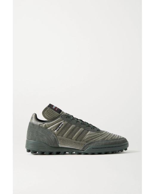 Adidas Originals Gray + Craig Green Kontuur Iii Embroidered Reflective Shell And Suede Sneakers