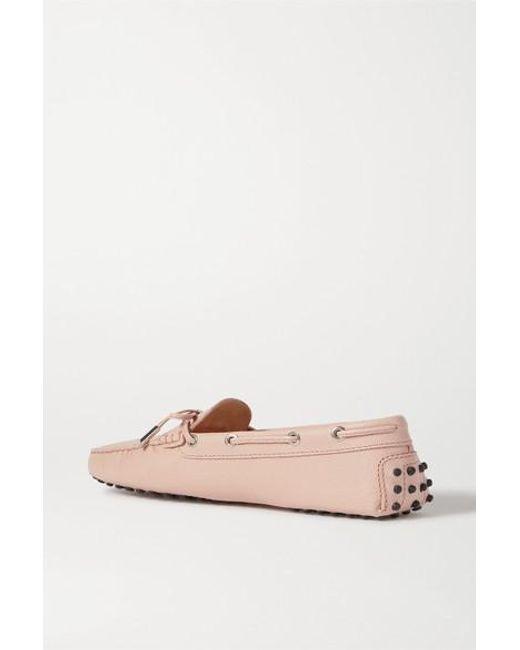 Tod's Multicolor City Gommino Loafers Aus Leder Mit Eidechseneffekt