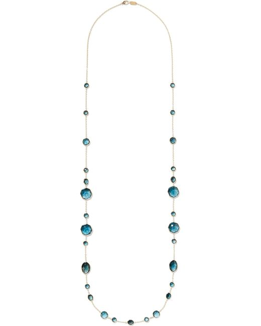 Ippolita | Metallic Rock Candy Crazy 8's 18-karat Gold Topaz Necklace | Lyst