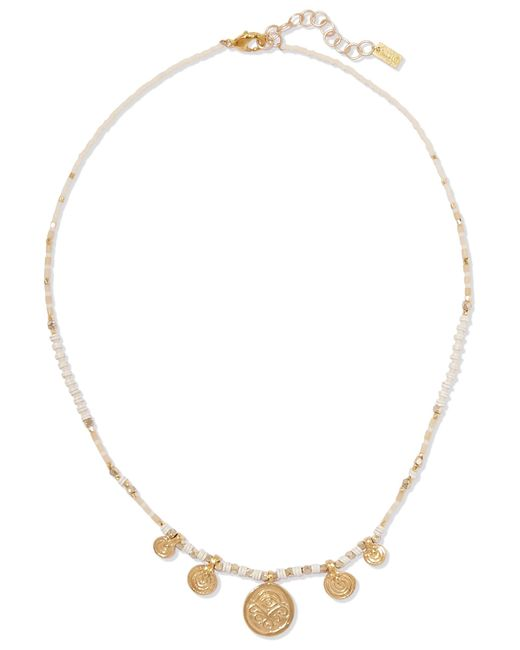 Chan Luu - Metallic Gold-tone Beaded Necklace Gold One Size - Lyst