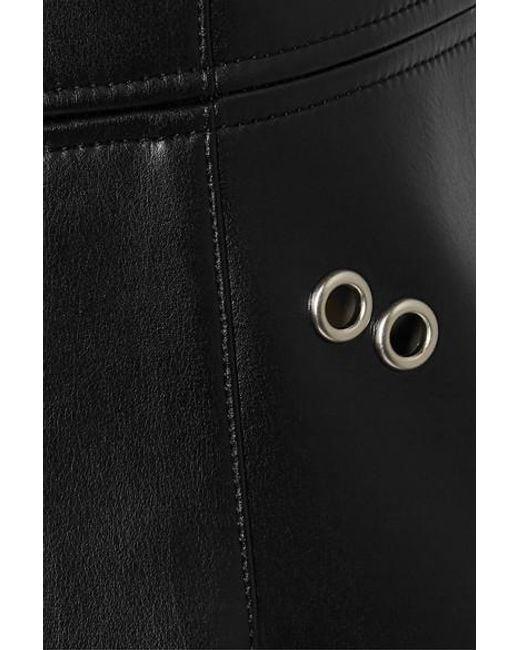 Mini-robe En Cuir Synthétique À Ornements Burberry en coloris Black