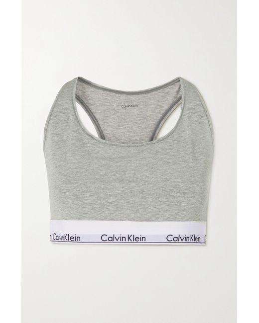 Calvin Klein Gray Dd+ Modern Cotton Soft-bh Aus Einer Baumwoll-modalmischung Mit Stretch-anteil