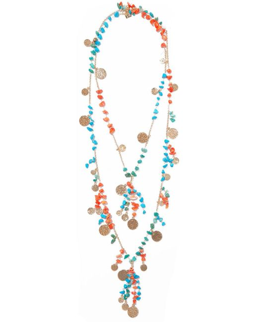 Rosantica - Blue Vento Gold-tone Beaded Necklace - Lyst