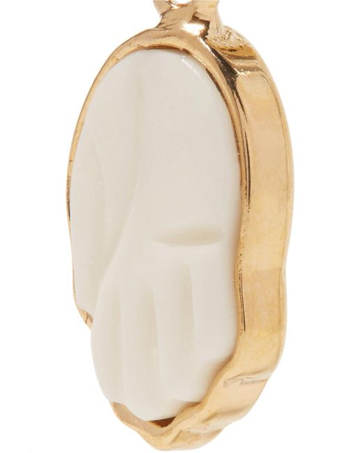 Gold-tone Bone Earrings - Cream Isabel Marant wCCPZNJH