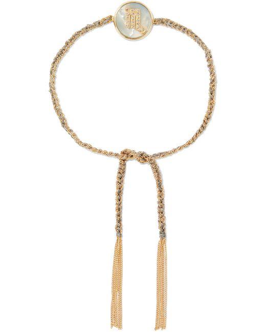 Carolina Bucci   Metallic Scorpio Lucky Zodiac 18-karat Gold, Diamond, Mother-of-pearl And Silk Bracelet   Lyst