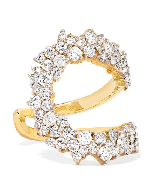 Ana Khouri - Metallic Mirian 18-karat Gold Diamond Ring - Lyst