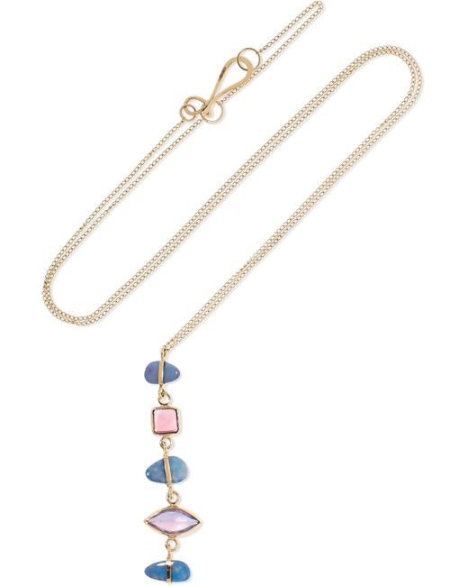 Melissa Joy Manning - Metallic 14-karat Gold Multi-stone Necklace - Lyst