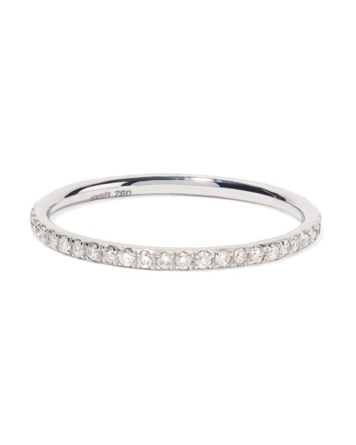 Ileana Makri - Metallic Thread 18-karat White Gold Diamond Ring - Lyst