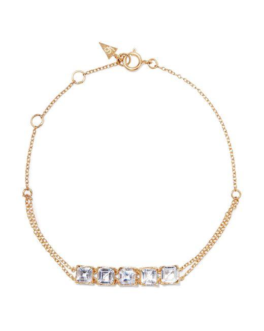 Loren Stewart - Metallic Tennis 14-karat Gold Topaz Bracelet - Lyst