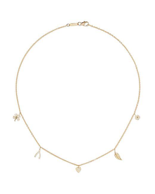 Jennifer Meyer - Metallic Mini Charm 18-karat Gold Diamond Necklace Gold One Size - Lyst
