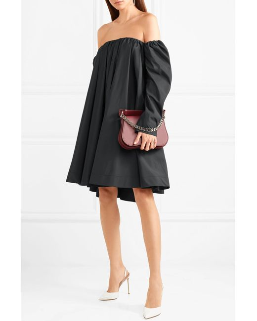 2ee75c73644 ... CALVIN KLEIN 205W39NYC - Black Off-the-shoulder Ruffled Shell Dress -  Lyst ...