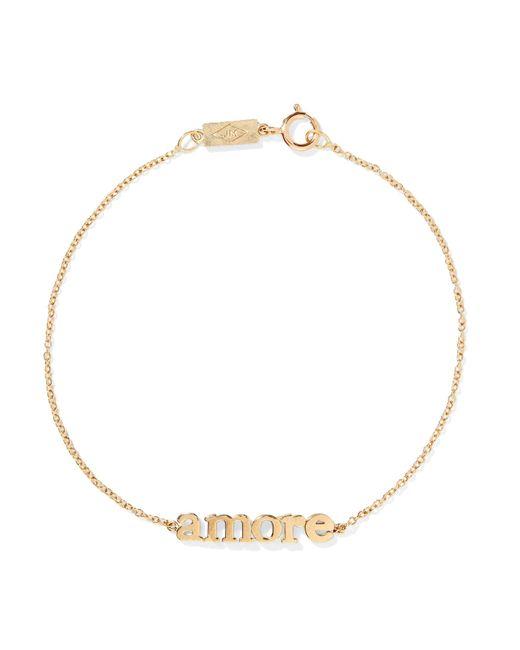 Jennifer Meyer - Metallic Amore 18-karat Gold Bracelet Gold One Size - Lyst