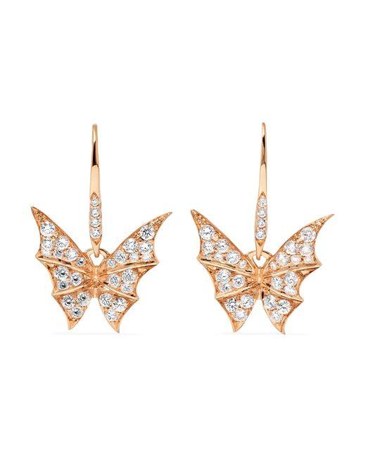 Stephen Webster - Metallic Fly By Night 18-karat Rose Gold Diamond Earrings - Lyst