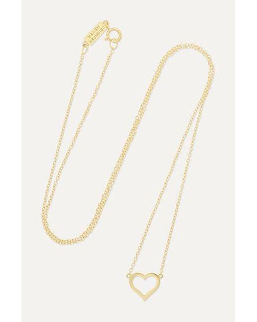 Jennifer Meyer Metallic Small Open Heart Kette Aus 18 Karat Gold