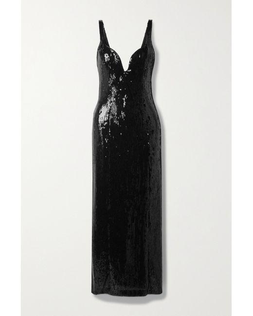 Galvan Black Savannah Maxikleid Aus Tüll Mit Pailletten