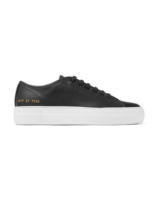 Common Projects - Black Tournament Leather Sneakers - Lyst