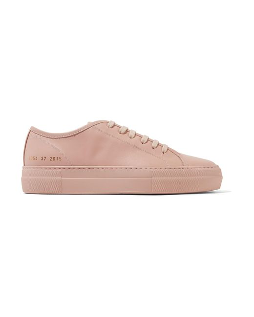Common Projects - Pink Tournament Leather Sneakers - Lyst
