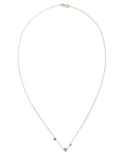 Wwake - Metallic Three Step 14-karat Gold Multi-stone Necklace - Lyst