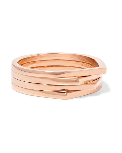 Repossi | Pink Antifer 18-karat Rose Gold Ring | Lyst