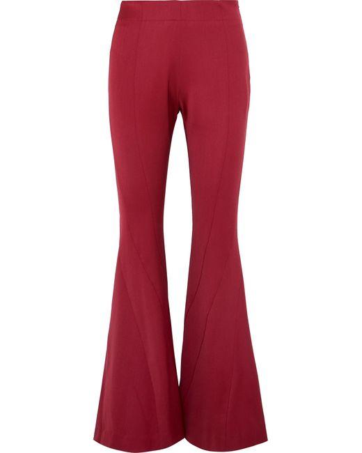 Mugler - Wool-blend Twill Flared Pants Red Fr38 - Lyst