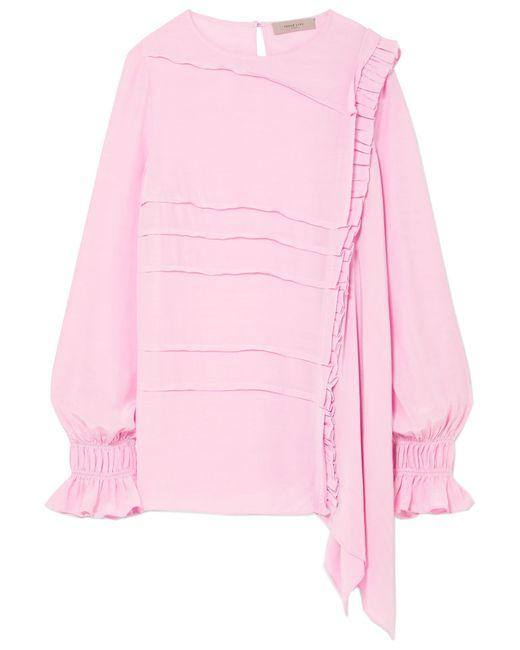Preen Line - Pink Liana Asymmetric Crepe De Chine Top - Lyst