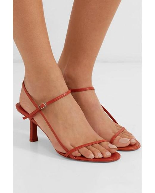 The Row Bare Leather Sandals in Red - Lyst