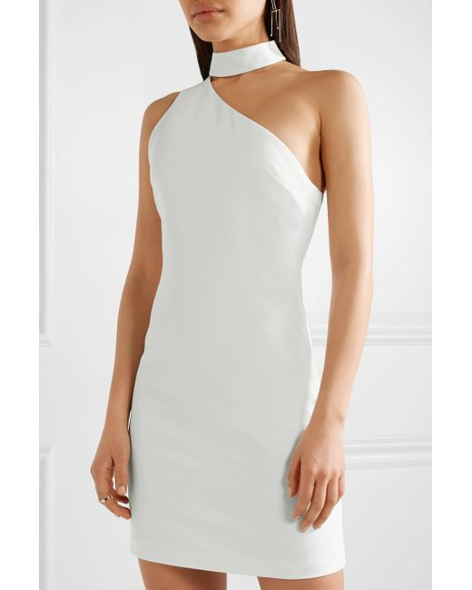 Soshana One-shoulder Crepe Mini Dress - Off-white Alice & Olivia PH7njGI5d