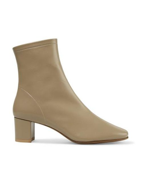 By Far Natural Sofia Leather Sock Boots