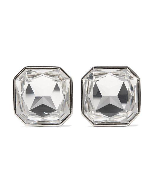 Saint Laurent - Metallic Brooch Earrings - Lyst