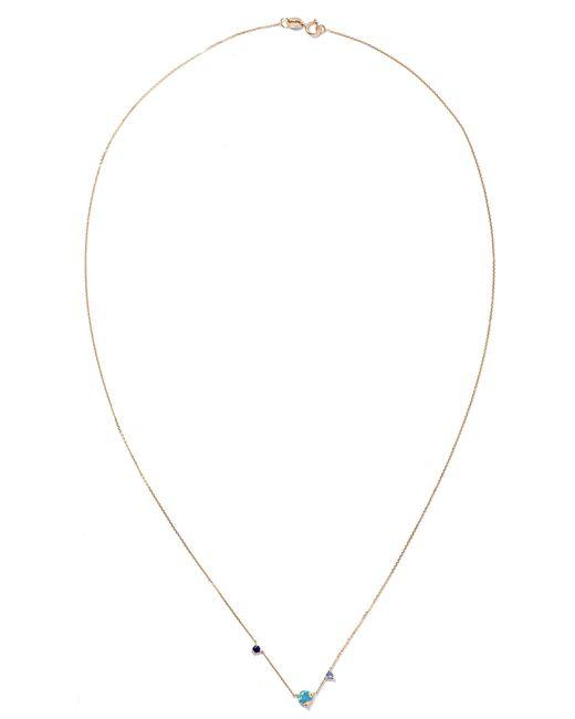 Wwake | Metallic Three Step 14-karat Gold Multi-stone Necklace | Lyst