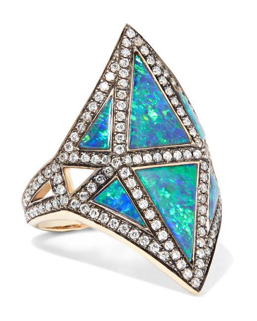 Noor Fares | Metallic Nellum 18-karat Gold Multi-stone Ring | Lyst