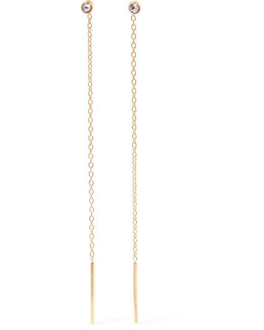 Chan Luu   Metallic Gold-plated Diamond Earrings   Lyst