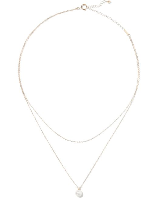 Mizuki - Metallic 14-karat Gold, Freshwater Pearl And Diamond Necklace - Lyst