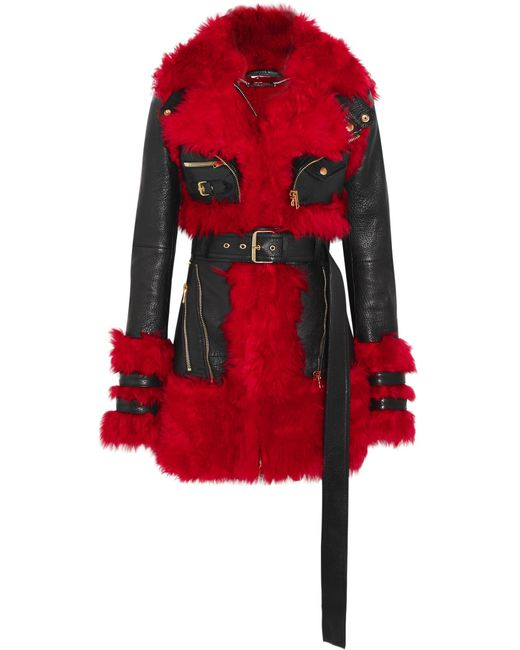Alexander McQueen   Black Shearling-lined Leather Jacket   Lyst