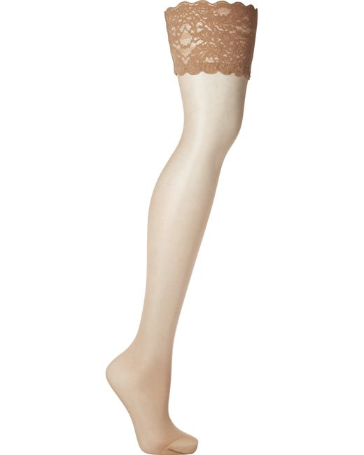 Wolford | Natural Satin Touch 20 Denier Stay-up Stockings | Lyst